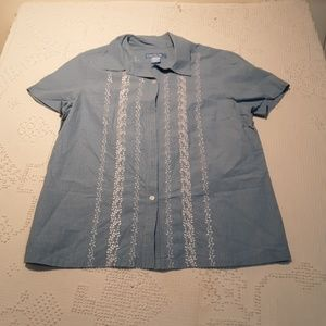evan-picone casual short sleeve top